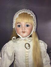 "20"" Antique German Bisque Head Doll S&H 1249 Santa Elegant!"