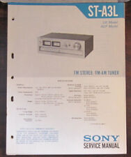 Sony ST-A3L tuner service repair workshop manual (original copy)