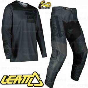 Leatt 2021 3.5 V22 Ride Kit Graphene Black Jersey Shirt Pants Combo Kit MotoX