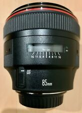 CANON EF 85mm F/1.2L II USM Lens EXCELLENT CONDITION COME With FRONT REAR CAP