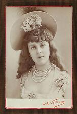Émilienne d'Alençon Comédienne Courtisane Photo Cabinet card Nadar Paris