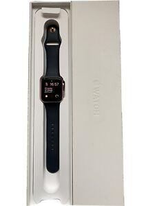 Apple Watch Series 2 42mm Gold Rose Aluminium Case + Blue Strap