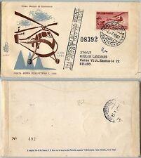 SAN MARINO-FDC 60/SM-1000L Elicottero-Busta x Milano 6.7.1961