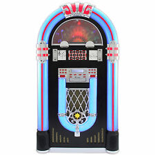 Jukebox Vintage Retro Stereo Vinyl Record Player CD FM Radio Bluetooth MP3 USB