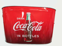 Coca-Cola Galvanized Party Beverage Bucket Red and Black Ombre   - BRAND NEW
