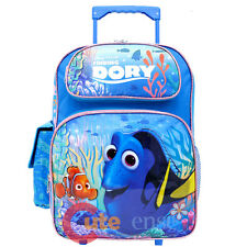 """Finding Dory Large School Roller Backpack 16"""" Wheeled Trolley Bag Nemo Dory"""