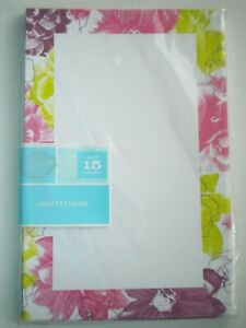 """Gartner Studios ~ PACKAGE OF 15 """"PAINTERLY FLORAL"""" ALL OCCASIONS INVITATIONS"""