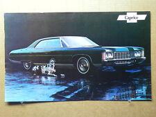 "True Vintage Car Poster Dealer AD 1971 CHEVROLET CAPRICE 18"" x 11"""