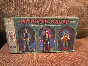 MONSTER SQUAD Game Milton Bradley  1977 HORROR FRANKENSTEIN, DRACULA - VINTAGE