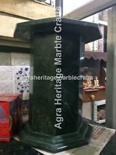 "Natural Green Marble 18""x15"" Base/Pedestal Handmade Stand Furniture Decor E548"