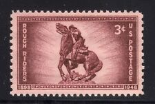 US STAMP #973 --- 3c ROUGH RIDERS - XF - MINT - GRADED 90