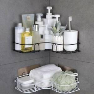Storage Rack Organizer Triangle Bathroom Shelf For Kitchen Toilet Suction Wall