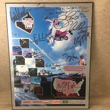 Signed Tony Hawk Vtg Skateboard Tour 2001 Poster Shawn White & More