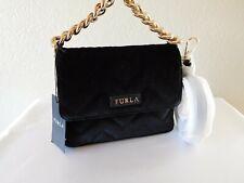 New Furla Gaya Mini Velvet Quilted Crossbody, Convertible Clutch, Handbag, Purse