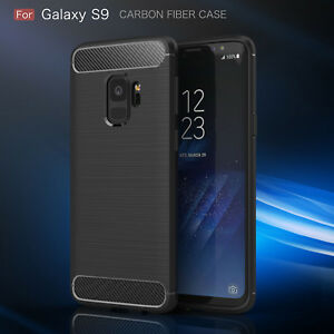 Samsung Galaxy S9 S8 360 Shockproof Carbon Fiber Back Cover Phone Case