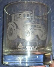 AGCO Deutz Allis 8630 Tractor Clear Etched Drinking Glass NEW!