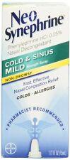 6 Pack - Neo-Synephrine Nasal Spray Mild Formula, 0.5 fl oz (15 mL) Each