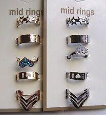 NEW WHOLESALE OF 10 PC TOE RINGS FASHION JEWELRY