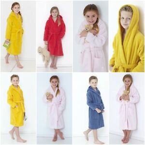 KIDS BATHROBE BOYS GIRLS SOFT TOWEL 100% EGYPTIAN COTTON TOWELLING DRESSING GOWN