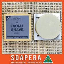 1 x Lime FACIAL & SHAVING Soap with Hemp oil-all natural vegan handmade Soap
