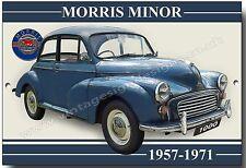 MORRIS MINOR 1000 METAL SIGN.GARAGE SIGN.VINTAGE BRITISH MOTOR CAR.