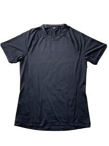 Lululemon Mens T Shirt S  Dyed Black Short Sleeve Size S