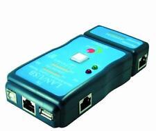 TESTER PER CAVI DI RETE LAN, RJ11, RJ12, E CAVI USB TIPO A-A e TIPO A-B