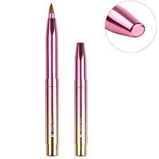 Gradient Color Retractable Lip Brush Travel Lipstick Gloss Makeup Brush Tool