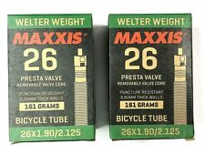 Set of 2 Maxxis Welter Weight Bicycle Tube 26 x 1.90 / 2.125 Presta Valve NEW