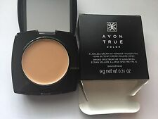 AVON TRUE COLOR FLAWLESS CREAM-TO-POWDER FOUNDATION - FULL SIZE - NATURAL BEIGE