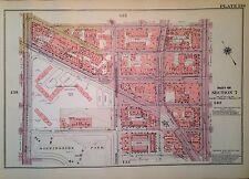 1955 HARLEM APOLLO THEATHER MANHATTAN NYC G.W. BROMLEY PLAT ATLAS MAP 12 X17