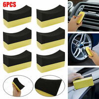 6X Tire Dressing Applicator Pads Car Contour Sponge Gloss Shine Protectant Wheel