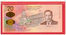 2019 Singapore $20 Polymer 200th Bicentennial Commemorative WITHOUT Folder UNC