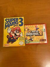 Super Mario Bros. 3 NES CIB New Super Mario Bros. 2 3DS Lot