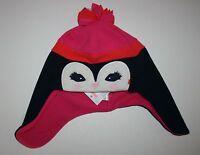 New Gymboree Girls Fleece Penguin Winter Hat Size M 7-8 Yr NWT Fair Isle Flurry
