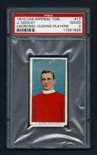 PSA 2 1910 C59 LaCROSSE CARD #17 J. DOOLEY