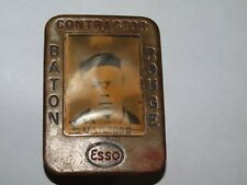 ESSO Employee Contractor Pin Badge, ESSO Baton Rouge Plant, Silver in color (**)