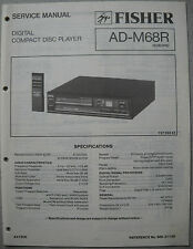 Fisher ad-m68r lettore cd service manual