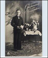 1934 Glückwunsch Segen KONFIRMATION Echtfoto-AK ab ERLAU b. Rochlitz gelaufen