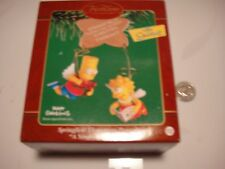 Simpsons Christmas Ornament Bart and Lisa as Angels in box Heirloom Collection
