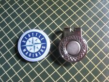 GOLF / Seattle Mariners Logo Golf Ball Marker/with Magnet Hat Clip New!!