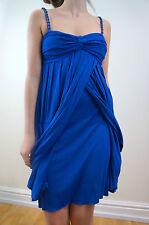 Vestido de Verano CATHERINE MALANDRINO azul eléctrico con Tiras Vestido S