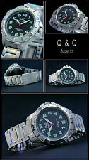 Sporty Diver Model for Men of Q&Q Stainless Steel Tag / Date Easy to Read NEW