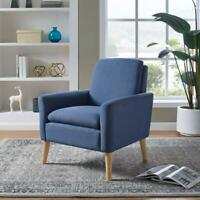 Modern Design Accent Fabric Chair Single Sofa Comfy Upholstered Arm Chair Blue
