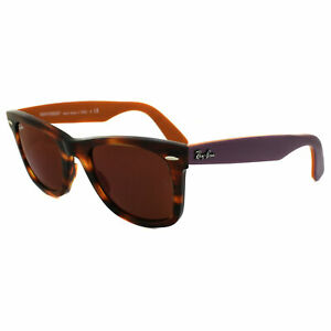 Ray-Ban Sunglasses Wayfarer 2140 11772K Bicolor Tortoise Violet & Red Mirror L