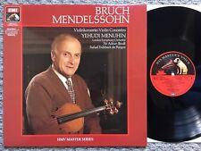 Bruch - Mendelssohn - Violin Concertos - Menuhin - EMI DMM stereo LP 29 0491 1