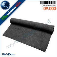 Moquette acustica rigata (a costine) colore grigio scuro - 70x140cm