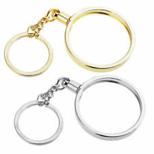 Silver Coin bazel Keychain Ring 40mm