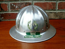 Vintage Super Lite Aluminum Full Brim Hard Hat Usfs Forest Service Boise Idaho