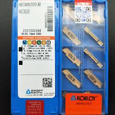10pcs MGMN300-M NC3020 high quality groove cutting insert carbide inserts